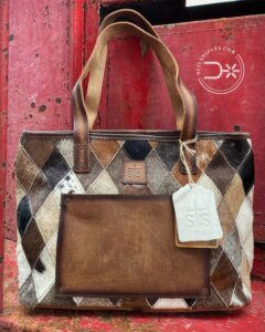 The sunflower cowhide purse