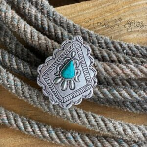 Ranchin turquoise concho ring