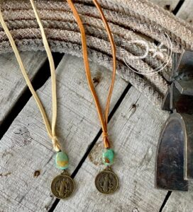 The Fort Worth stockyards coin necklace