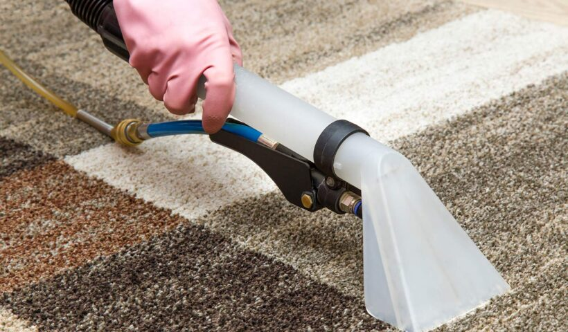 Wet carpet drying by a vacuum